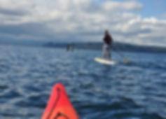 Paddleboarding On Liberty Bay