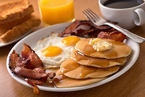 North Kitsap Breakfast With Bacon, Eggs, Pancakes, And Toast