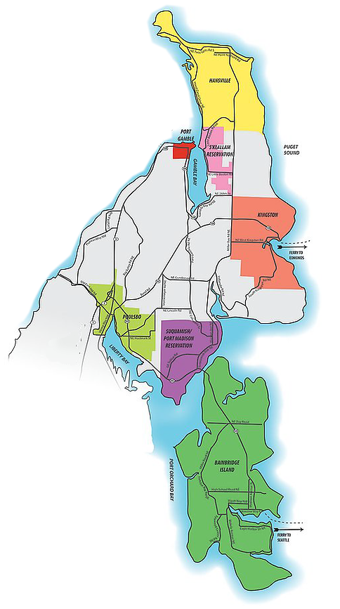 North Kitsap Peninsula Map Image