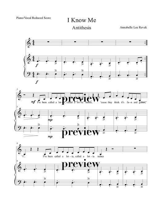 I Know Me (Piano/Vocal)