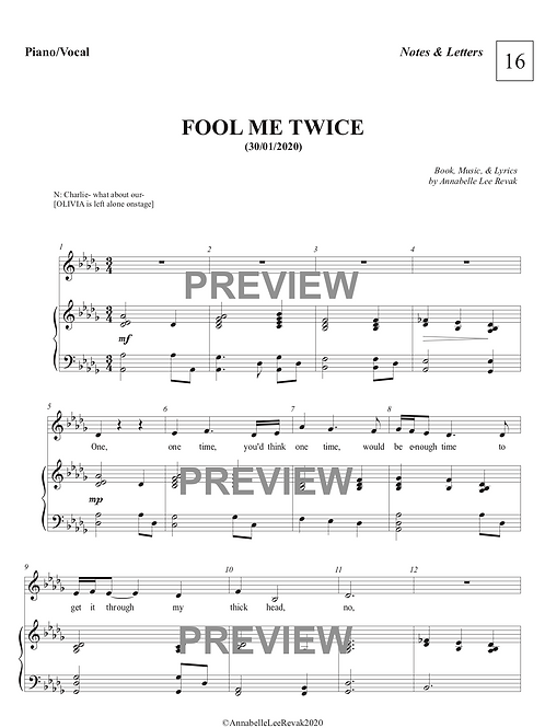 Fool Me Twice - NOTES & LETTERS