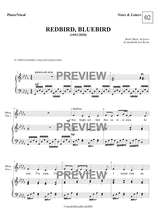 Redbird Bluebird - NOTES & LETTERS