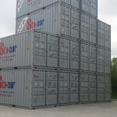 20' Containers piled high, ready for rental or purchase in Wisconsin. Purchase or rent shipping containers today.