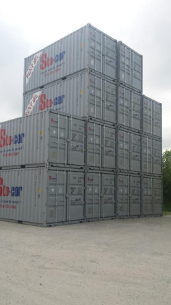 20' Containers stacked four tall