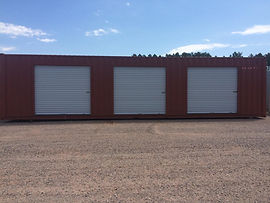 40' Roll Up Door Container for rent or purchase in Wisconsin - Custom modified