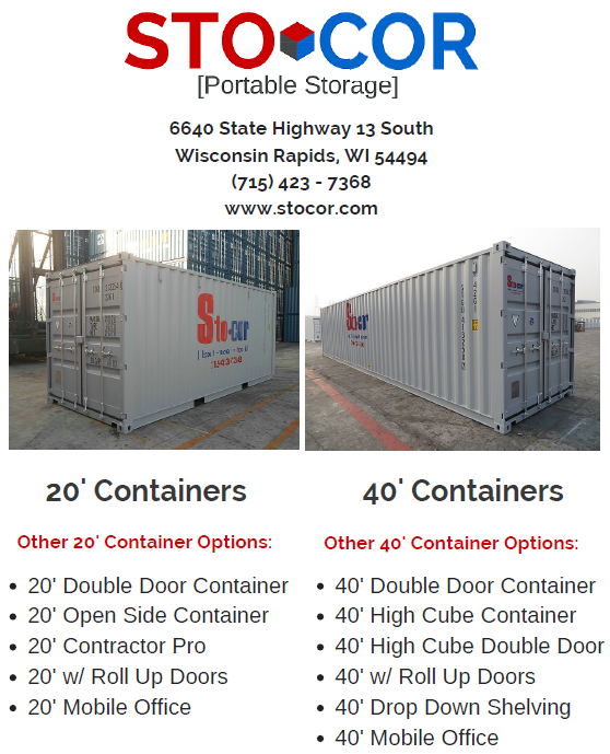 Shipping Containers for Rent or Purchase in Ladysmith, Wisconsin