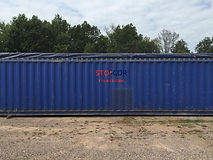 Our 40' open top shipping containers are great for storing salt, or other large bagged items to be loaded over the top of the container