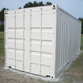20' White Painted Container