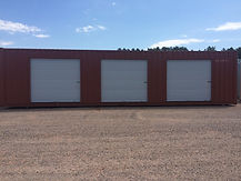 Our 40' roll up door storage containers provide an easier open access like a garage style mini storage in Wisconsin