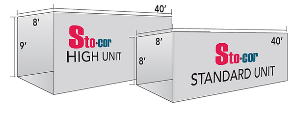 Stocor provides many sizes and types of 40' shipping containers to provide for on-site storage for residential and commercial customers