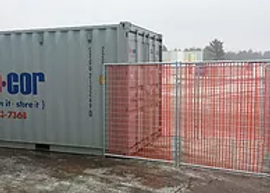 Safety Fencing options for your jobsite location in Wisconsin. High Security shipping containers for rent or purchase.