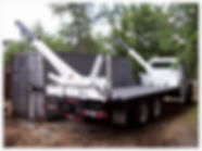 20' Swing Thru Crane truck deliverig to residential location for moving