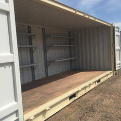20' Open Side Container with Shelving