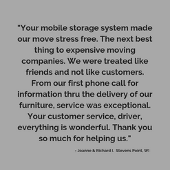 Stress free moving options in Wisconsin with stocor and our portable moving containers and shipping containers