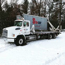 20' Container delivery in winter Wisconsin storage container