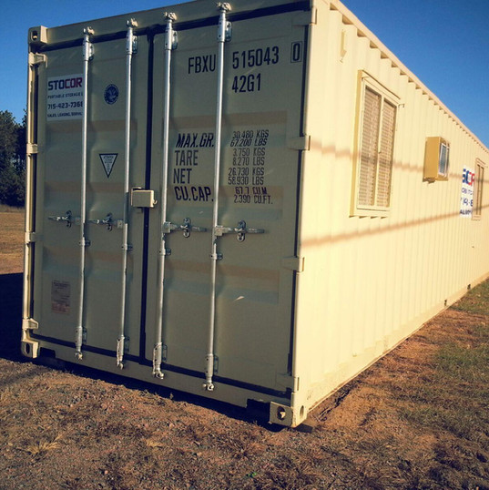 40' Office container for rental or purchase for your Wisconsin or Minnesota jobsite location