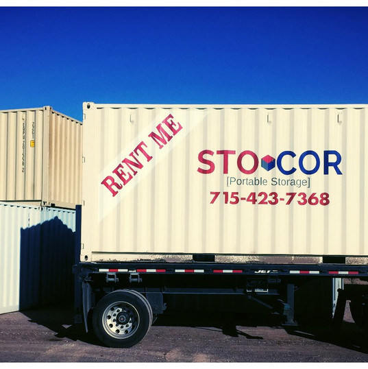 20' Storage containers delivered together for moving and storage in Wisconsin