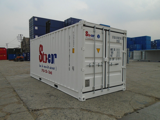 20' White Open Side Container