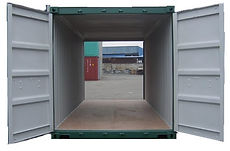 20' Double doors designed to have a way to load and unload items from either side