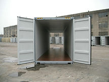They highcube double door shipping containers have an extra 1ft of height in addition to the tunnel style opening