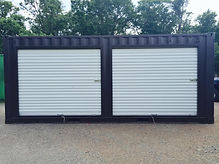 Stocor has modification options to customize a container with roll up doors like a garage style storage container