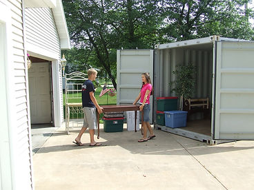 20' Storage Contaner for residential moving in wisconsin