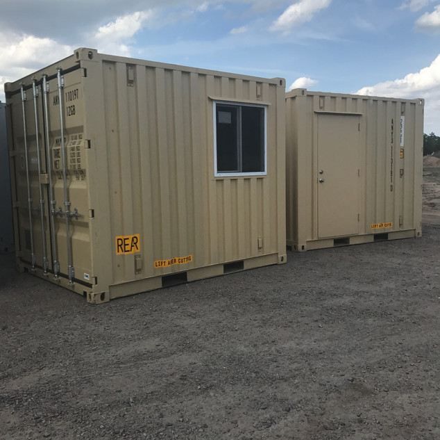 10' Office Container or Guard Shack Modifications