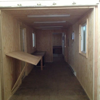 40' Shipping Container Office Modification - Office Trailer
