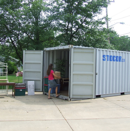 20' Storage on-site, load and unload easily for moving in Wisconsin