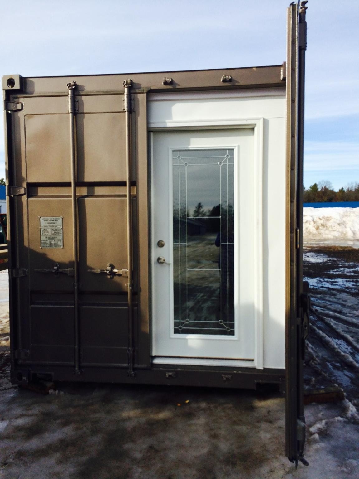 Shipping Container Glass Door
