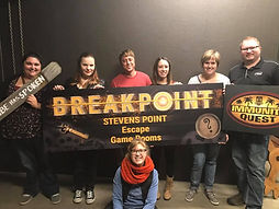 Group Escape Room Team Pic at Breakpoint Stevens Point