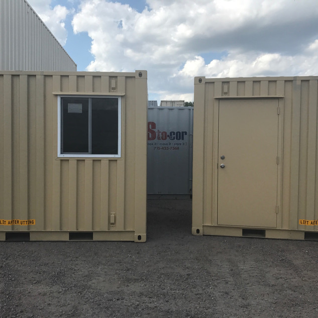 10' Modified Units - office container - trailer office