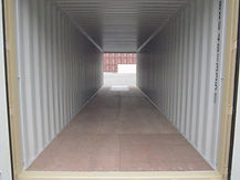 Our 40' double door containers are convenient way to store large equipment in a container or have a forklift drive all the way through