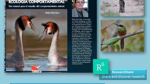 Professor da UFU Publica Livro na Espanha em Comportamento Animal e disponibiliza gratuitamente!
