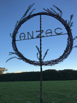 Anzac wreath evening