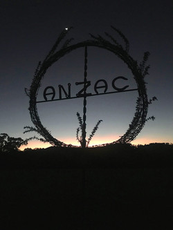 Anzac wreath early dawn