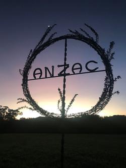 Anzac wreath at Dawn