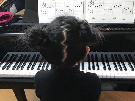 🎼小学1年生の生徒さん♬