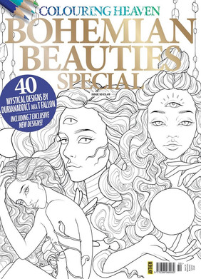 Bohemian beauties - Coloring Heaven by Anthem Publishing, 2017 & 2019.
