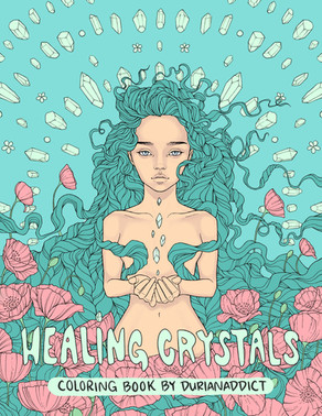 Healing Crystals coloring book, self published, 2019.