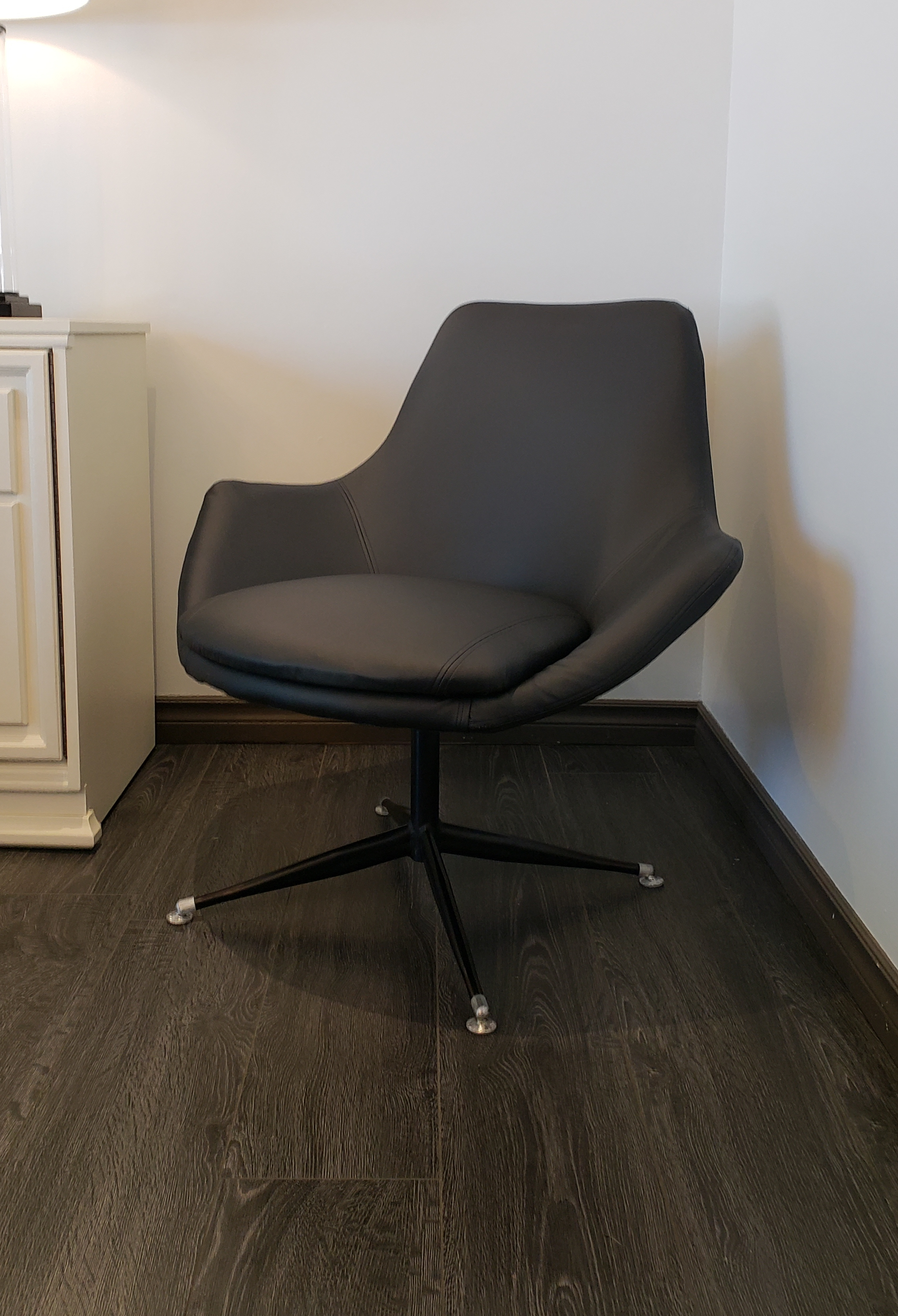 Leather Tulip Chair