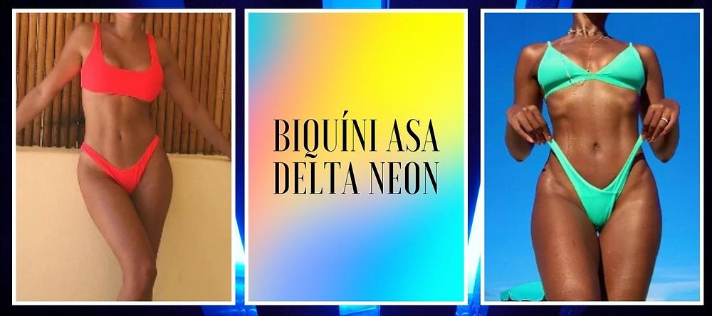 biquíni asa delta neon