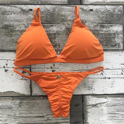 Biquíni Fixo Levanta Bumbum Orange