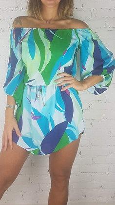 Vestido Curto Saída de Praia Sweet Azul
