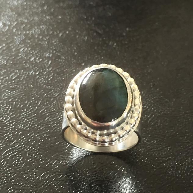Labradorite cocktail ring