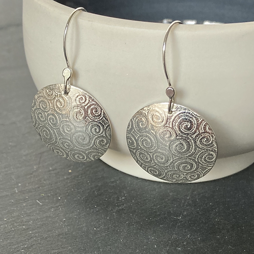 Swirls Sterling Silver Earring Drops