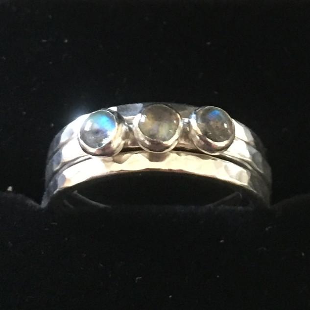 Labradorite stacking rings