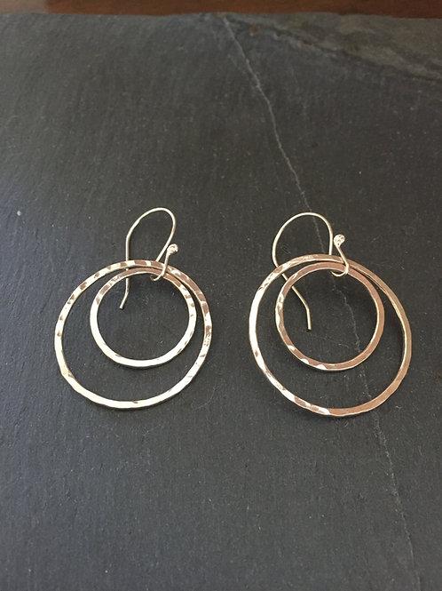 Sterling Silver Double Hoops Earrings