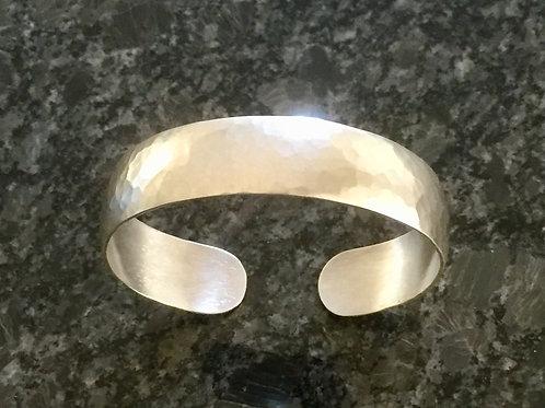 Hammered cuff bangle