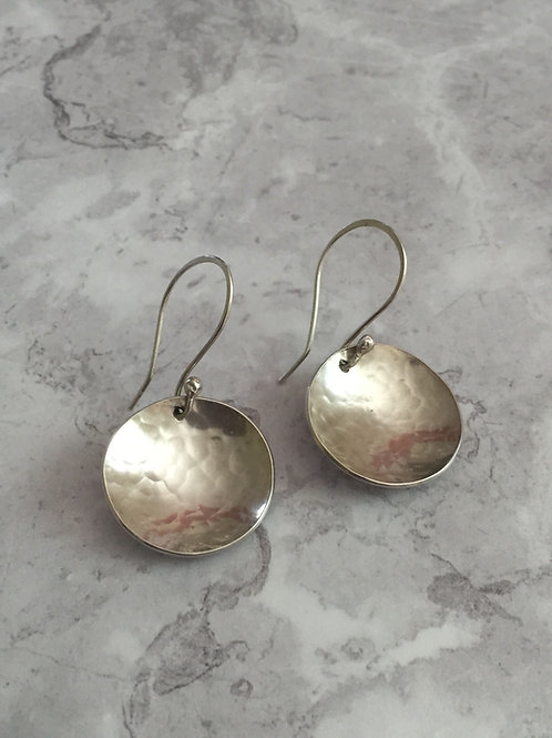 Hammered earring drops
